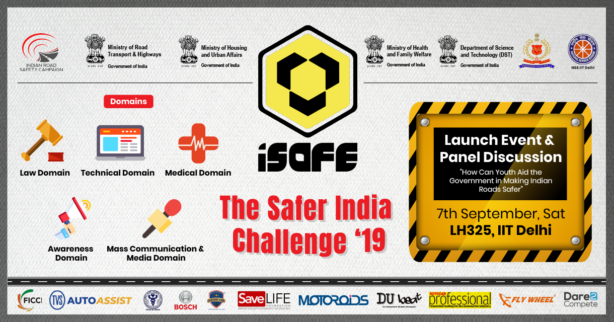 iSAFE – The Safer India Challenge 2019: A program that ignites the competitive spirit in the field of 'road safety'