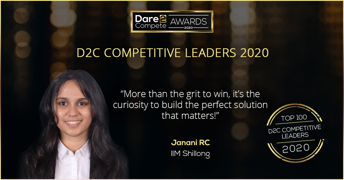 Turning dreams into reality – Janani, IIM Shillong | Top 100 D2C Competitive Leaders
