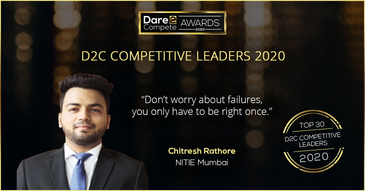 Chitresh NITIE ranked as one of the Top 30 D2C Competitive Leaders 2020