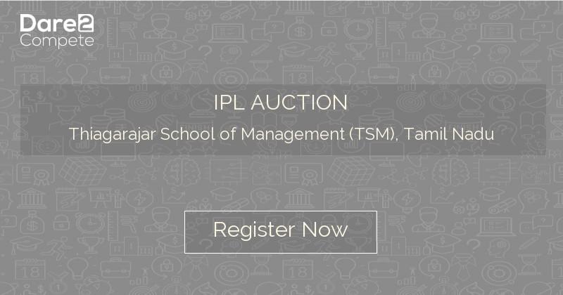 IPL AUCTION under YUKTI 2K18 from Thiagarajar School of