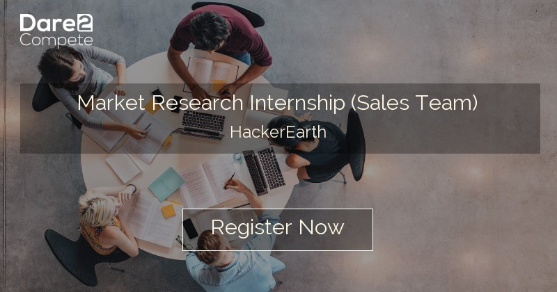 Market Research Internship (Sales Team) from HackerEarth