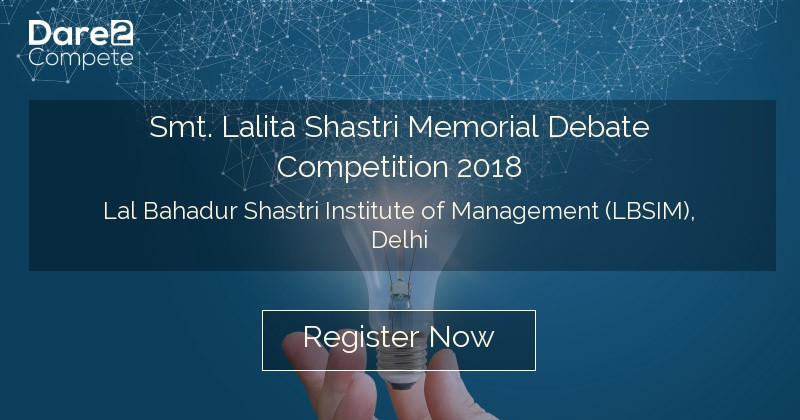 Smt Lalita Shastri Memorial Debate Competition 2018 From Lal