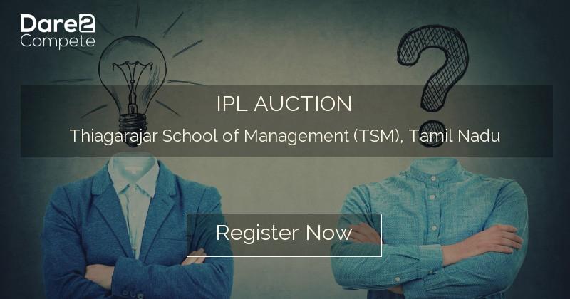 IPL AUCTION under YUKTI from Thiagarajar School of
