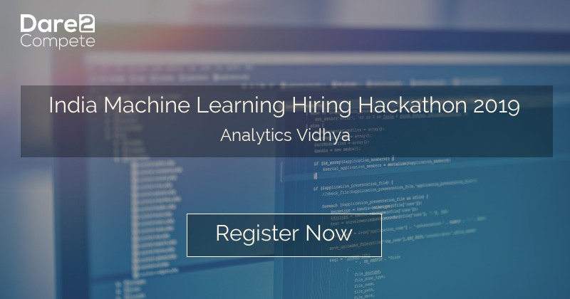 India Machine Learning Hiring Hackathon 2019 from Analytics