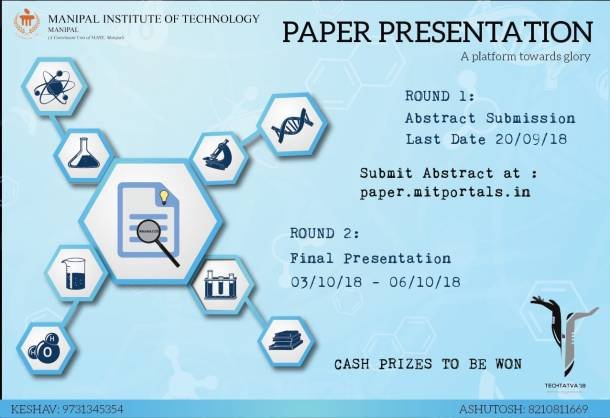 paper presentation under techtatva from manipal institute of