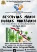 Resolving Mandi During Nakabandi